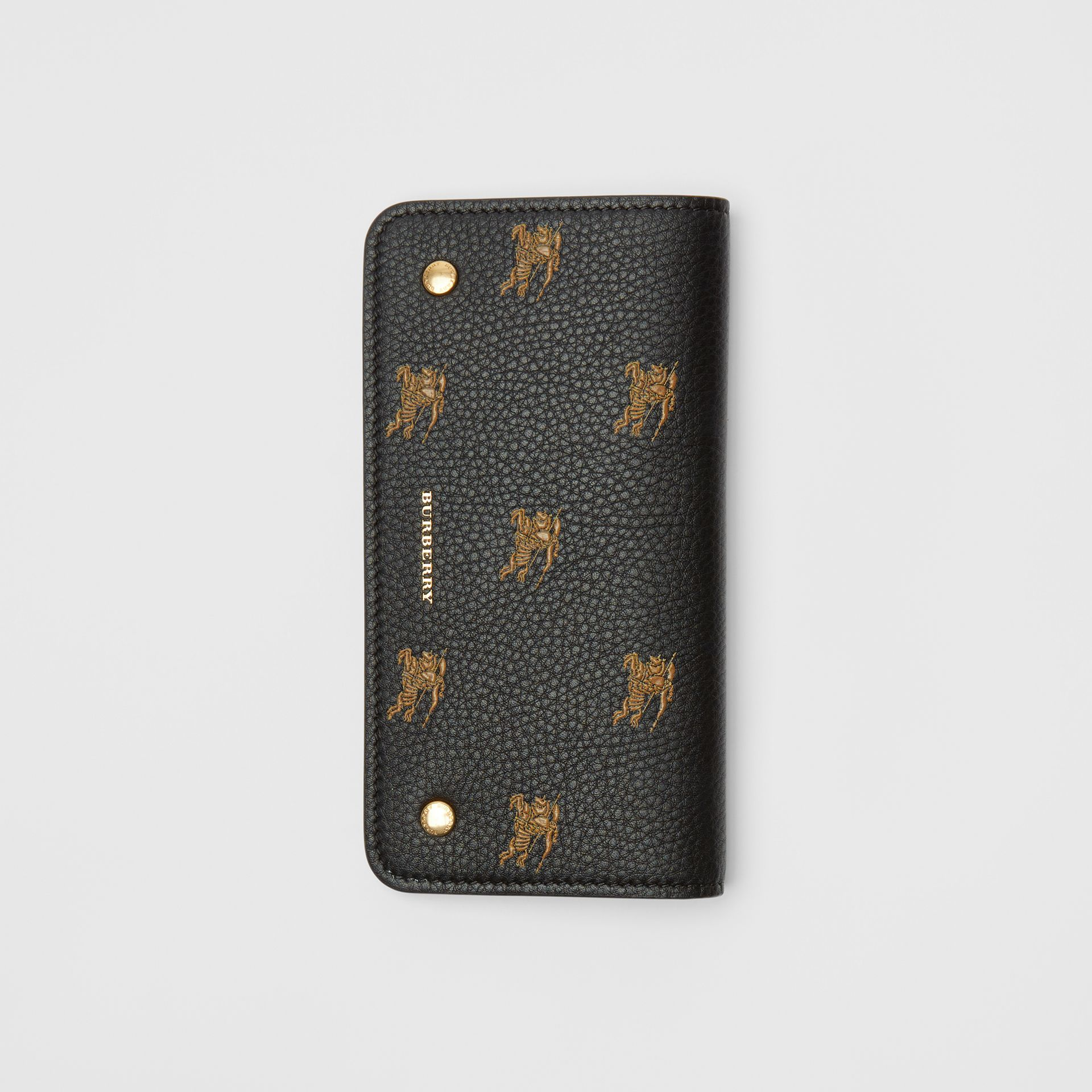 EKD Leather Phone Wallet in Black - Women | Burberry Australia - gallery image 3