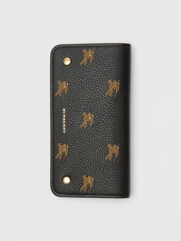 EKD Leather Phone Wallet in Black - Women | Burberry Australia - cell image 3