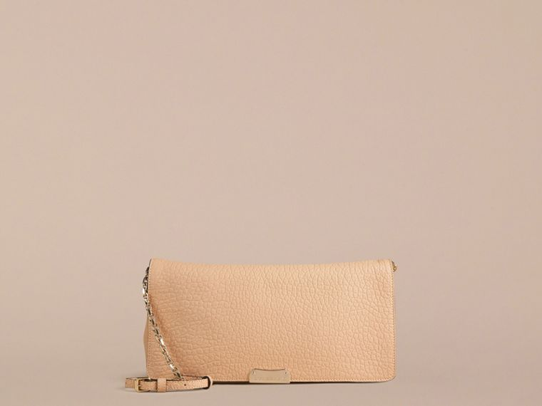 Pale apricot Medium Signature Grain Leather Clutch Bag Pale Apricot - cell image 1