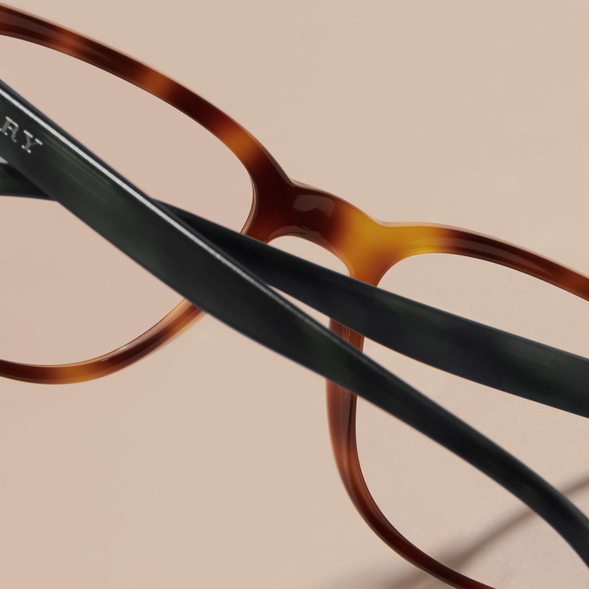 Square Optical Frames in Tortoise Shell - gallery image 5