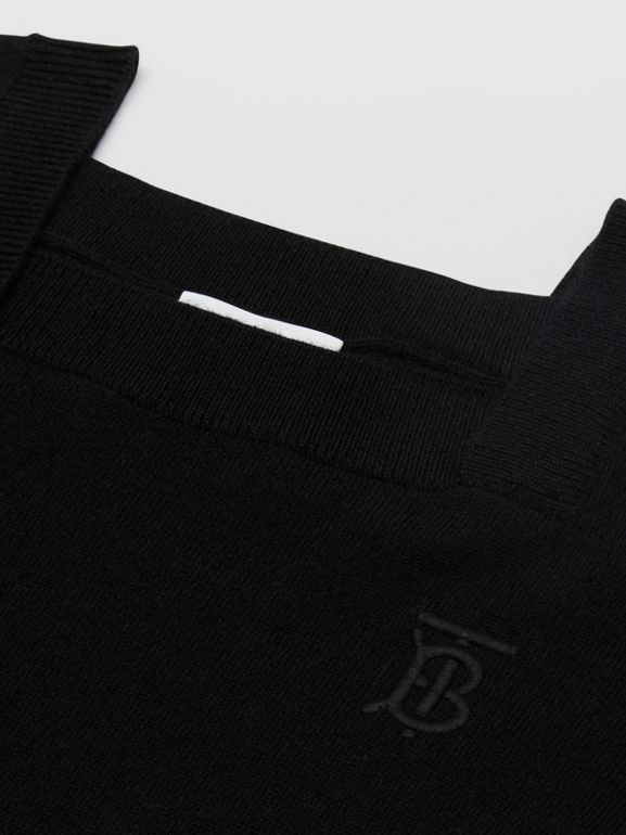 Monogram Motif Cashmere Sweater in Black | Burberry Singapore - cell image 1