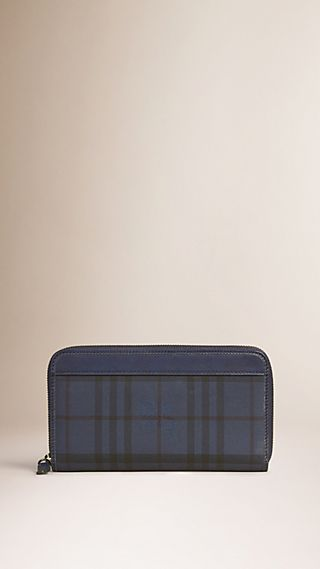 Horseferry Check Ziparound Wallet