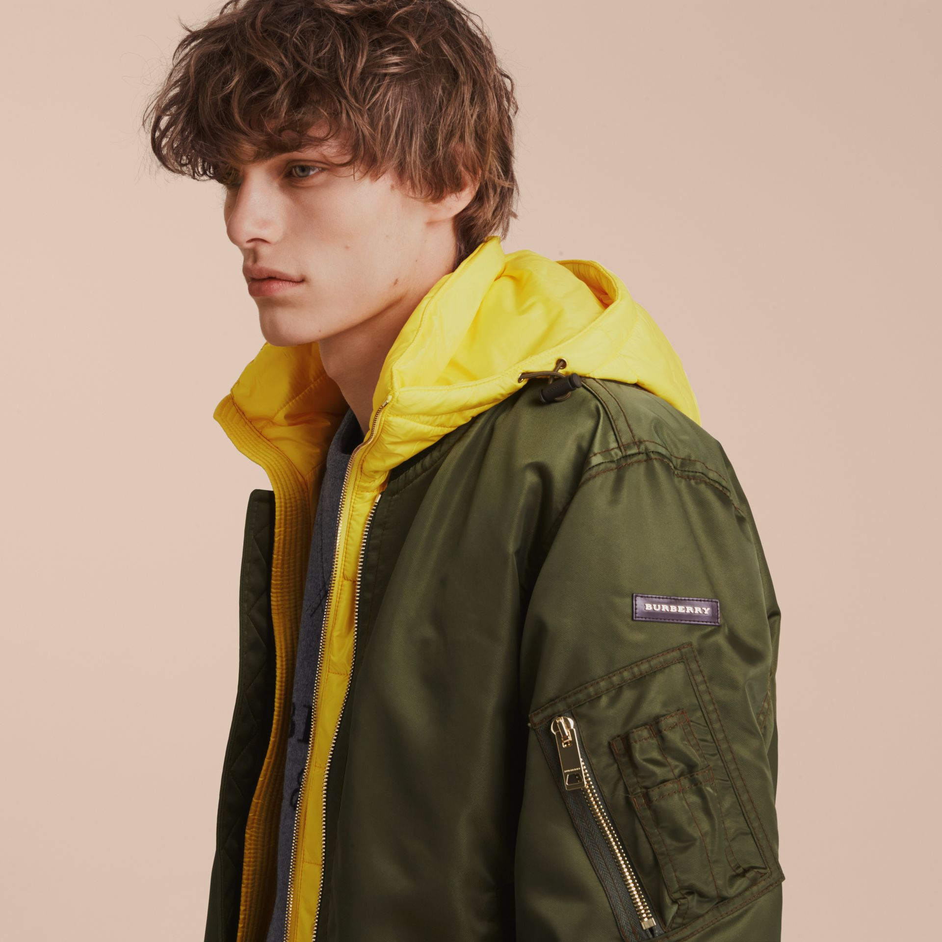 Technical Bomber Jacket with Detachable Warmer - gallery image 5