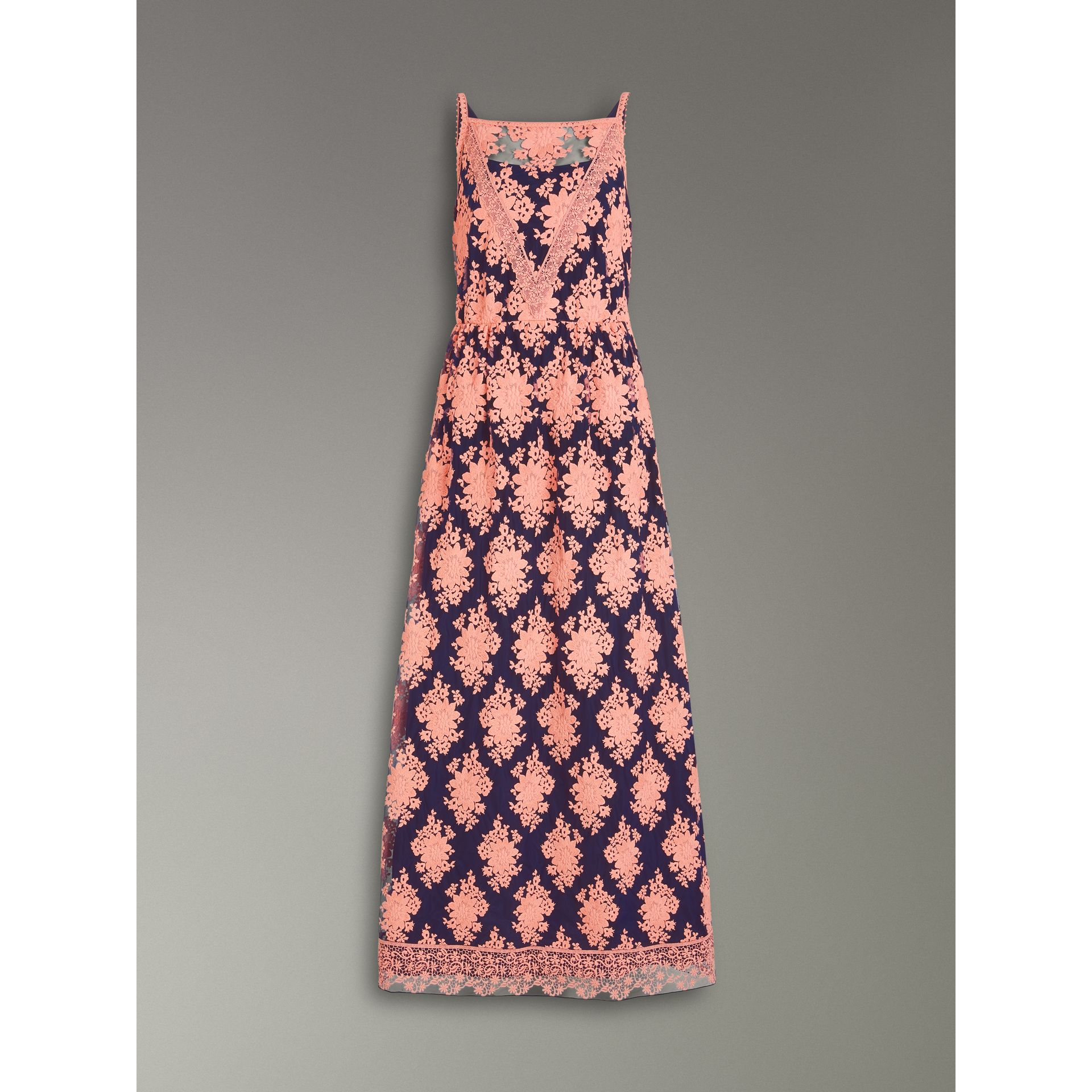 Floral-embroidered Sleeveless Dress in Rose/midnight Blue - Women | Burberry United Kingdom - gallery image 3