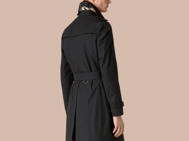 Navy The Chelsea – Gabardine Trench Coat with Lace Collar Navy - cell image 1