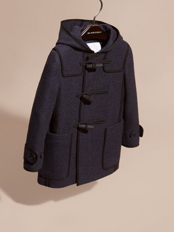Midnight blue Technical Wool Cashmere Duffle Coat - cell image 2