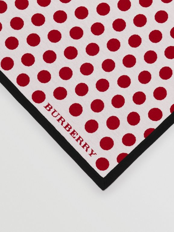 The Burberry Bandana in Spot Wool Blend in Multicolour | Burberry - cell image 1