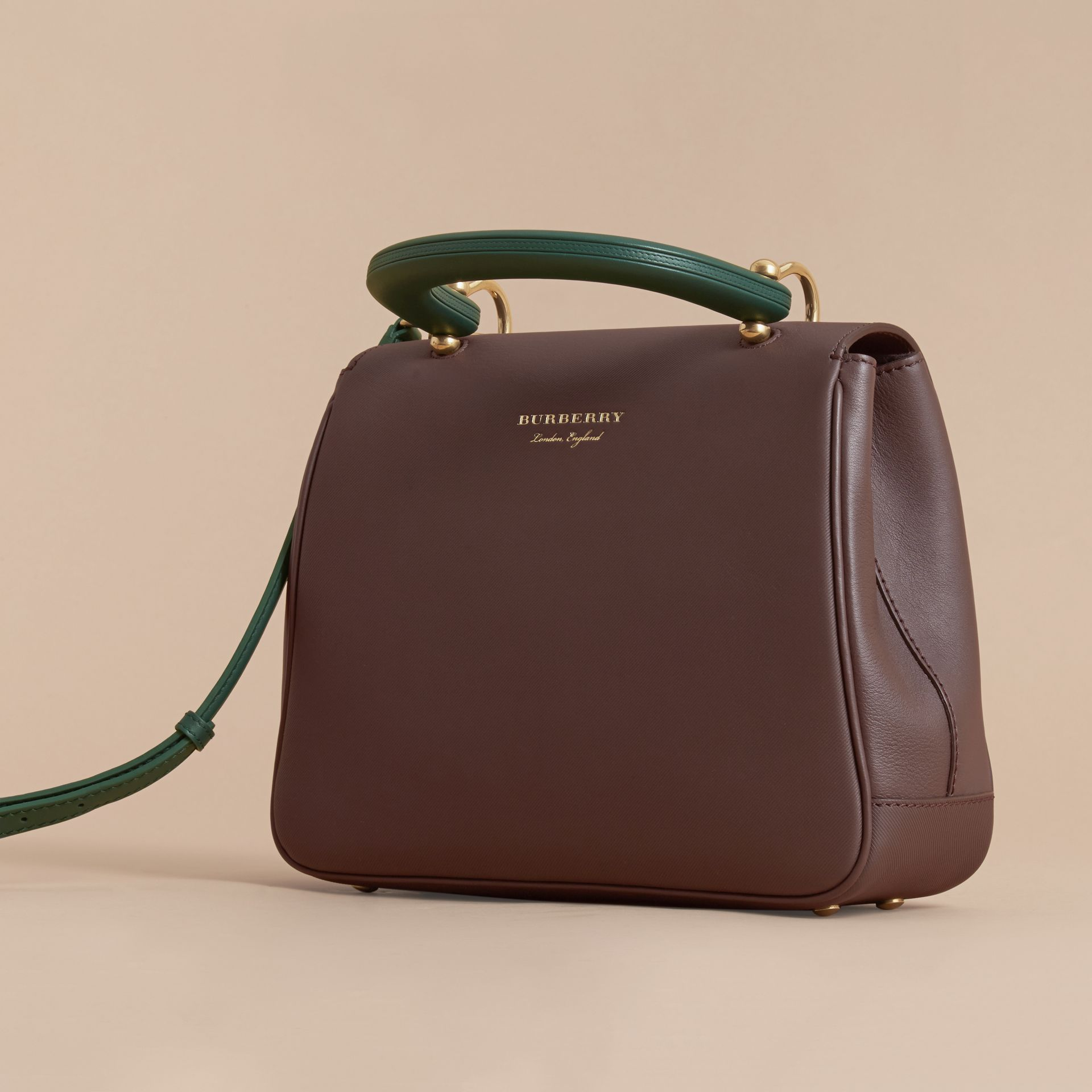 The Medium DK88 Top Handle Bag in Dark Chocolate - gallery image 5