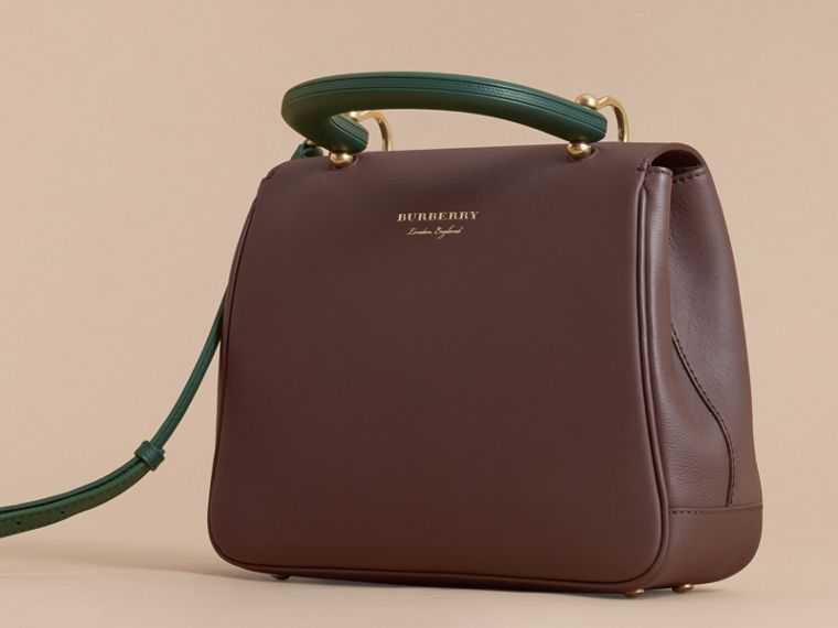 The Medium DK88 Top Handle Bag in Dark Chocolate - cell image 4