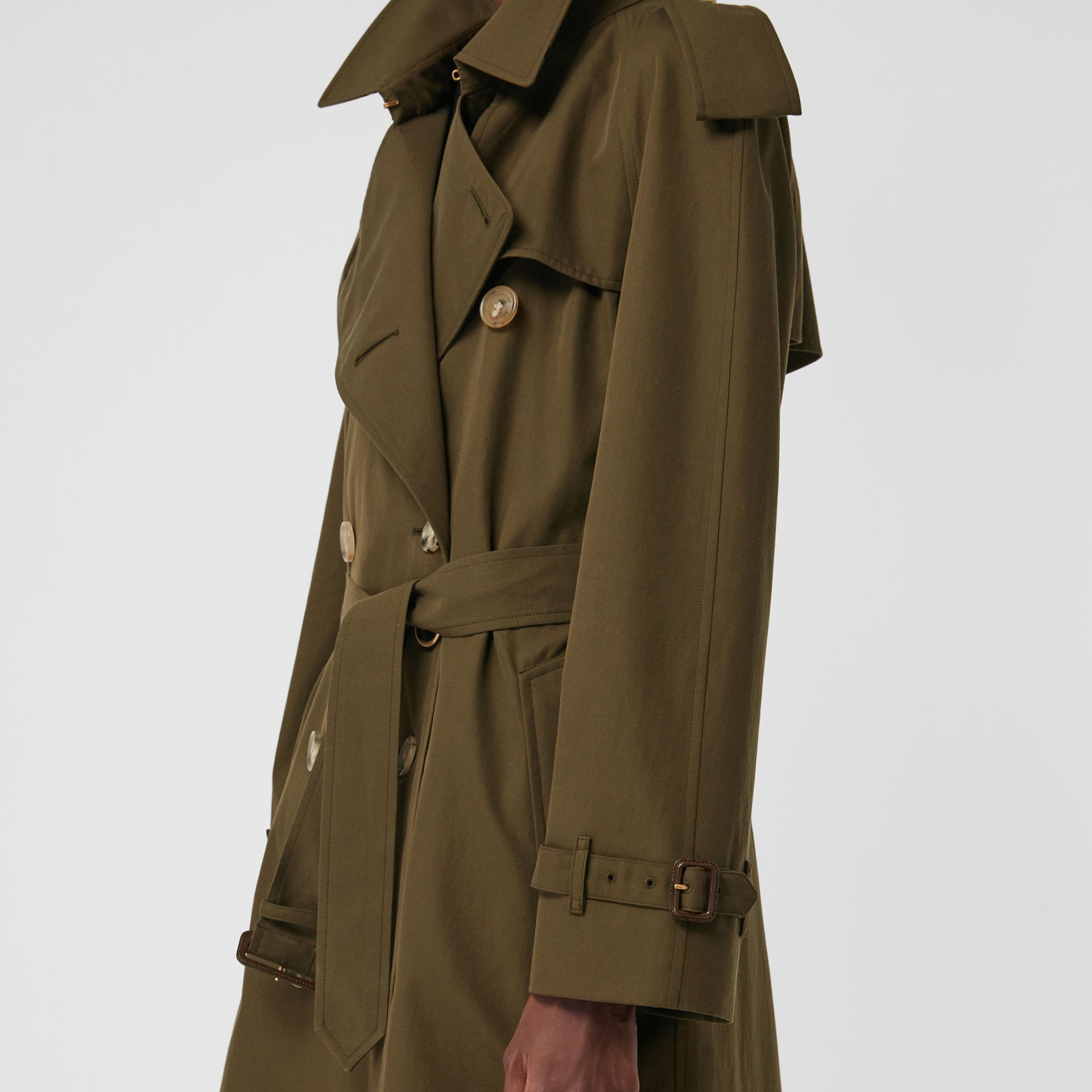 The Westminster Heritage Trench Coat in Dark Military Khaki - Women | Burberry Singapore - gallery image 5