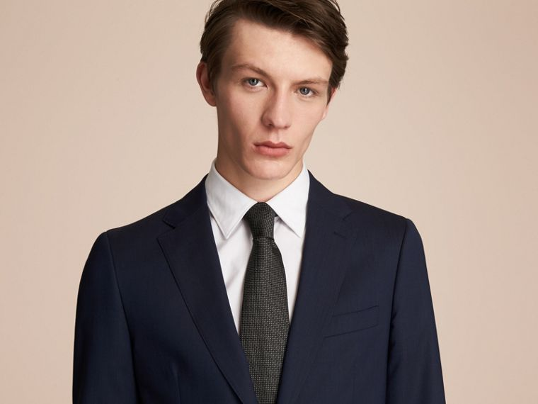 Classic Cut Patterned Silk Tie in Black - Men | Burberry Australia - cell image 2