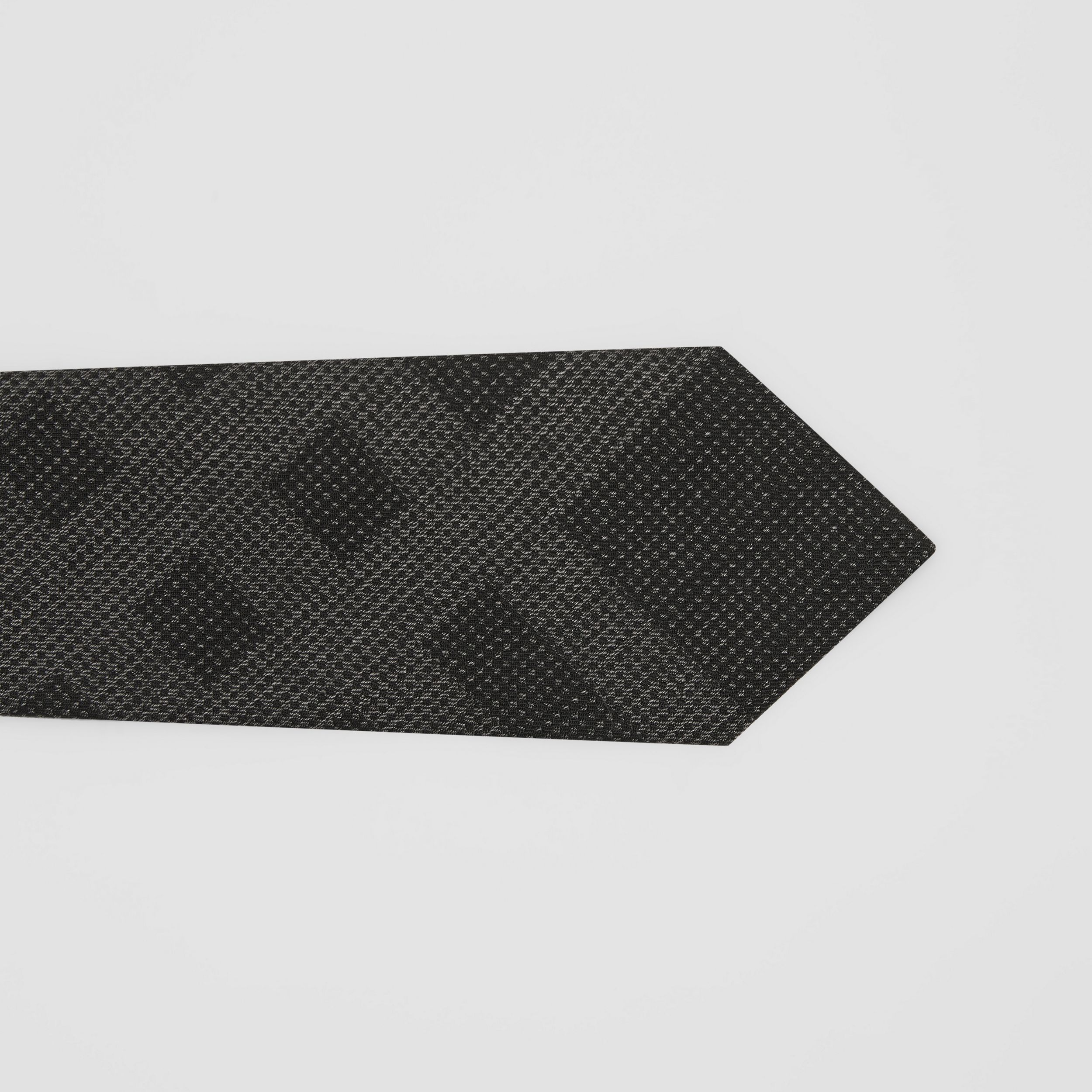 Classic Cut Check Silk Tie in Dark Grey Melange - Men | Burberry - 2
