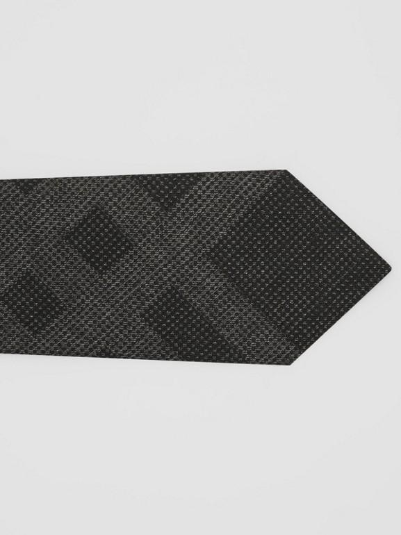 クラシックカット チェック シルクタイ (ダークグレーメランジ) - メンズ | バーバリー - cell image 1