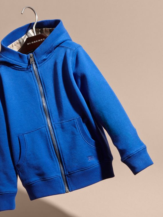 Brilliant blue Hooded Cotton Top Brilliant Blue - cell image 2