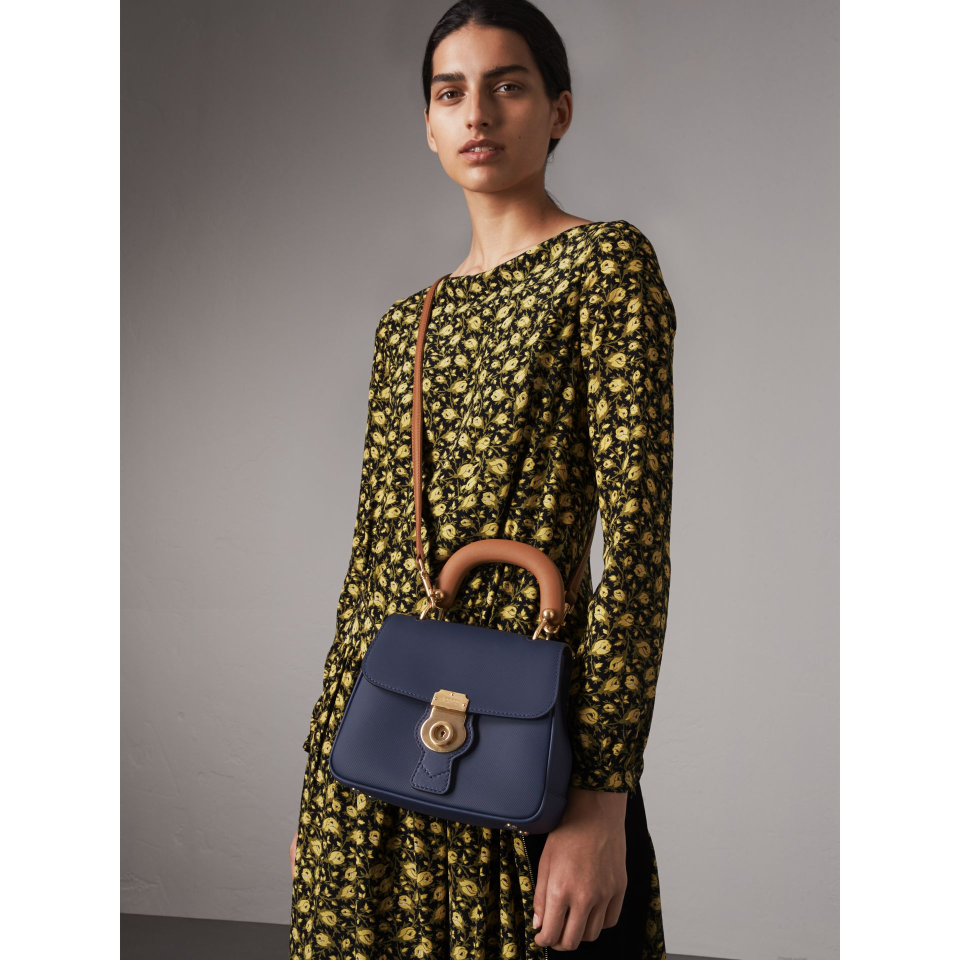 The Small DK88 Top Handle Bag in Ink Blue - Women | Burberry United Kingdom - gallery image 3