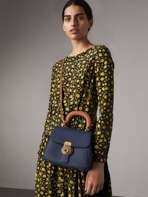 The Small DK88 Top Handle Bag in Ink Blue - Women | Burberry - cell image 2