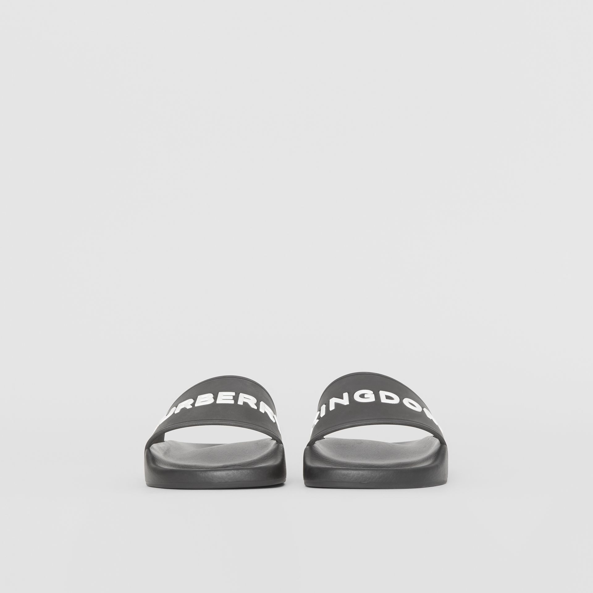Kingdom Print Slides in Black - Women | Burberry United Kingdom - gallery image 2