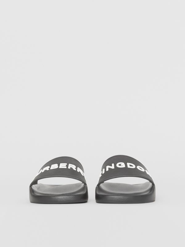 Kingdom Print Slides in Black - Women | Burberry United Kingdom - cell image 2