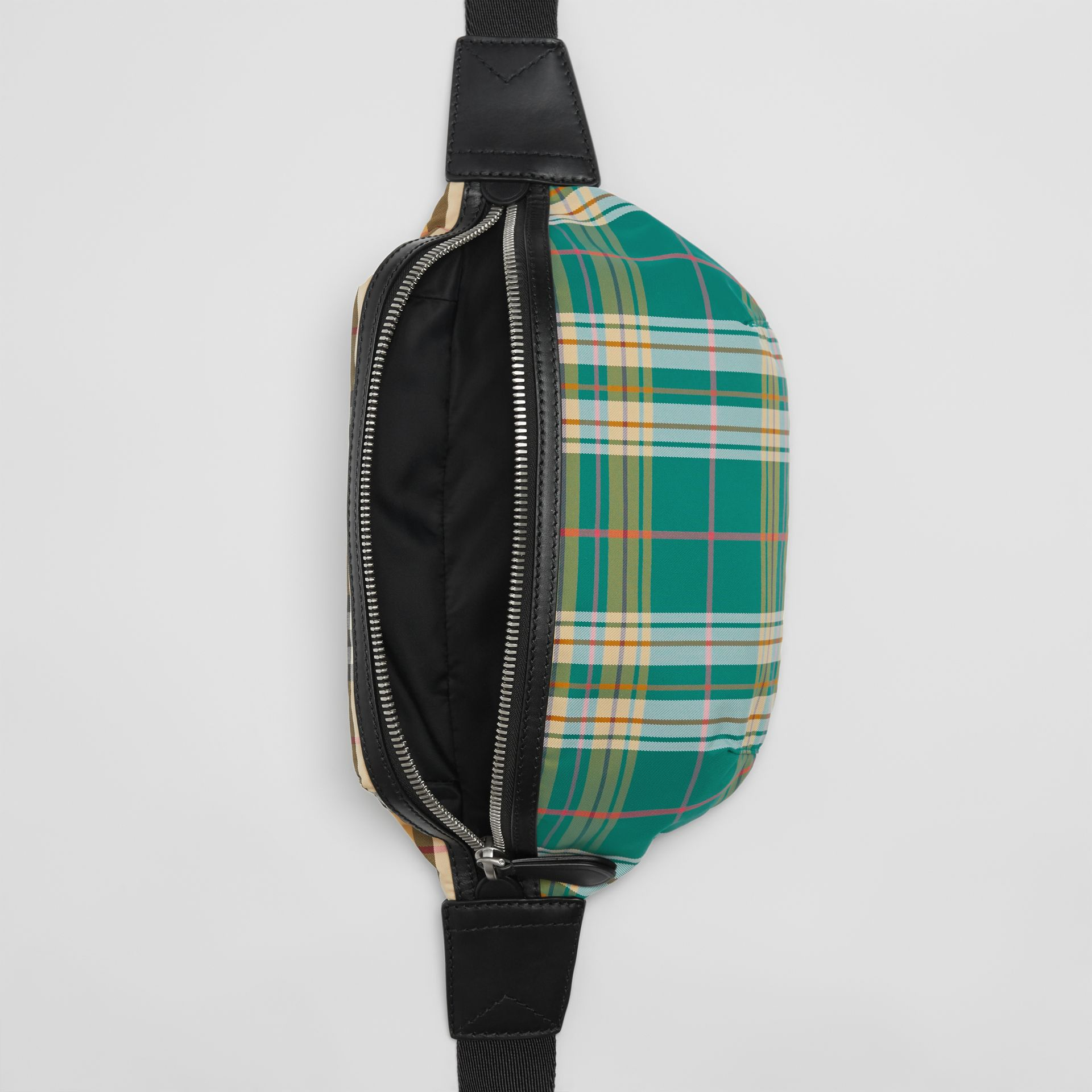 Medium Vintage Check and Tartan Bum Bag in Pine Green | Burberry Australia - gallery image 3