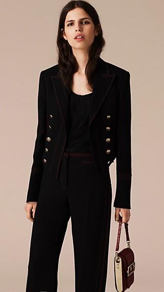 Military Wool Silk Twill Jacket