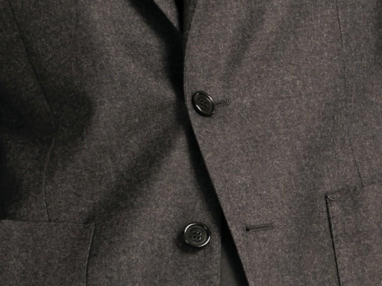 Dark grey melange Modern Fit Tailored Wool Jacket - cell image 1