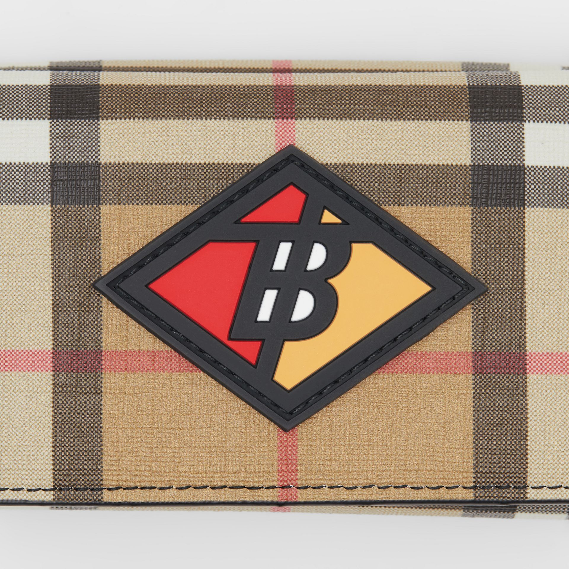 Small Logo Graphic Vintage Check Folding Wallet in Archive Beige - Women | Burberry Australia - gallery image 1