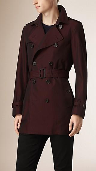 Trench-coat en gabardine de coton
