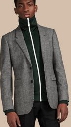 Slim Fit Prince of Wales Wool Tailored Jacket
