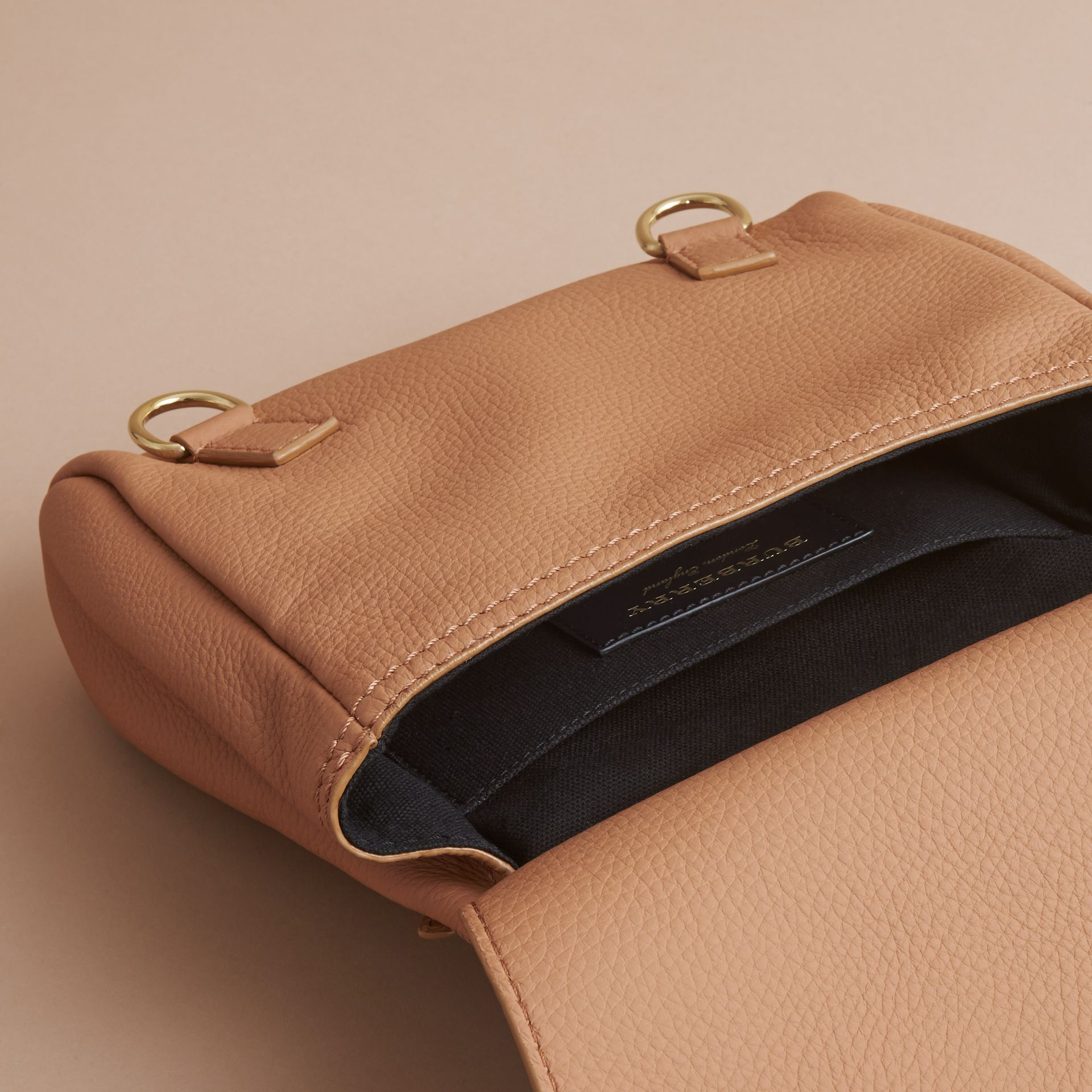 The Bridle Crossbody Bag in Deerskin in Pale Clementine - Women | Burberry - gallery image 5