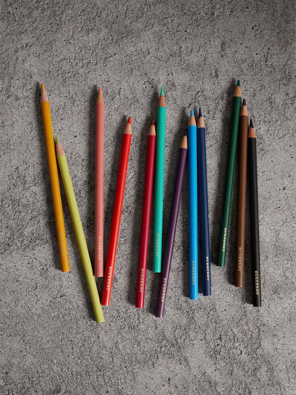 Set of Coloured Pencils in Multicolour | Burberry - cell image 2