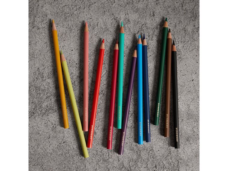 Set of Coloured Pencils in Multicolour | Burberry Canada - cell image 2