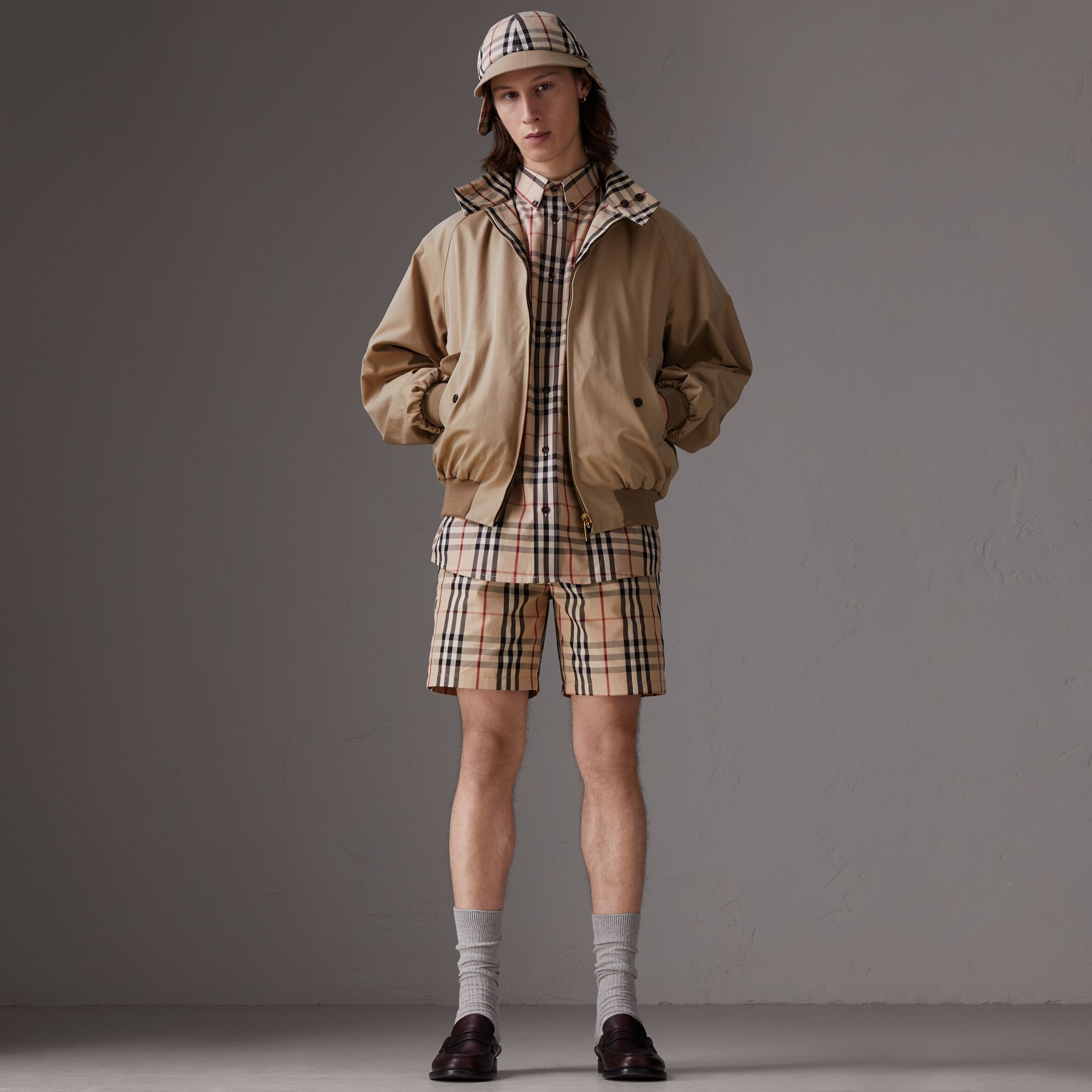 Gosha x Burberry Tailored Shorts in Honey | Burberry - gallery image 2