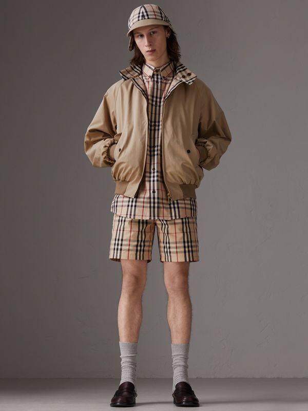 Gosha x Burberry Tailored Shorts in Honey | Burberry United States - cell image 2