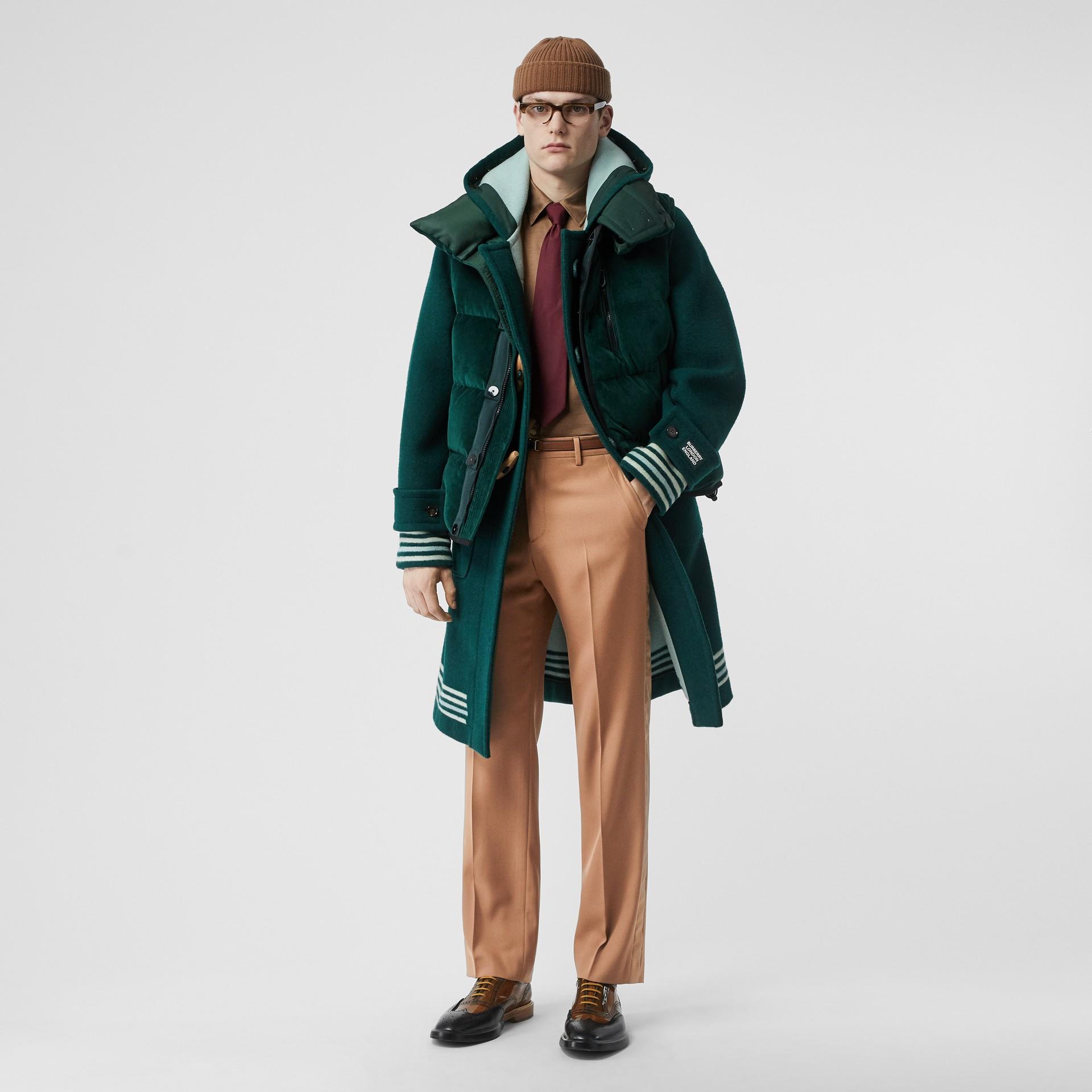 Elegante Wollhose mit Streifendetails (Warmes Camelfarben) - Herren | Burberry - Galerie-Bild 0