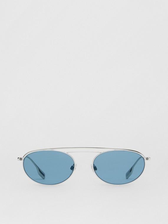 Солнцезащитные очки в овальной оправе (Светло-голубой)