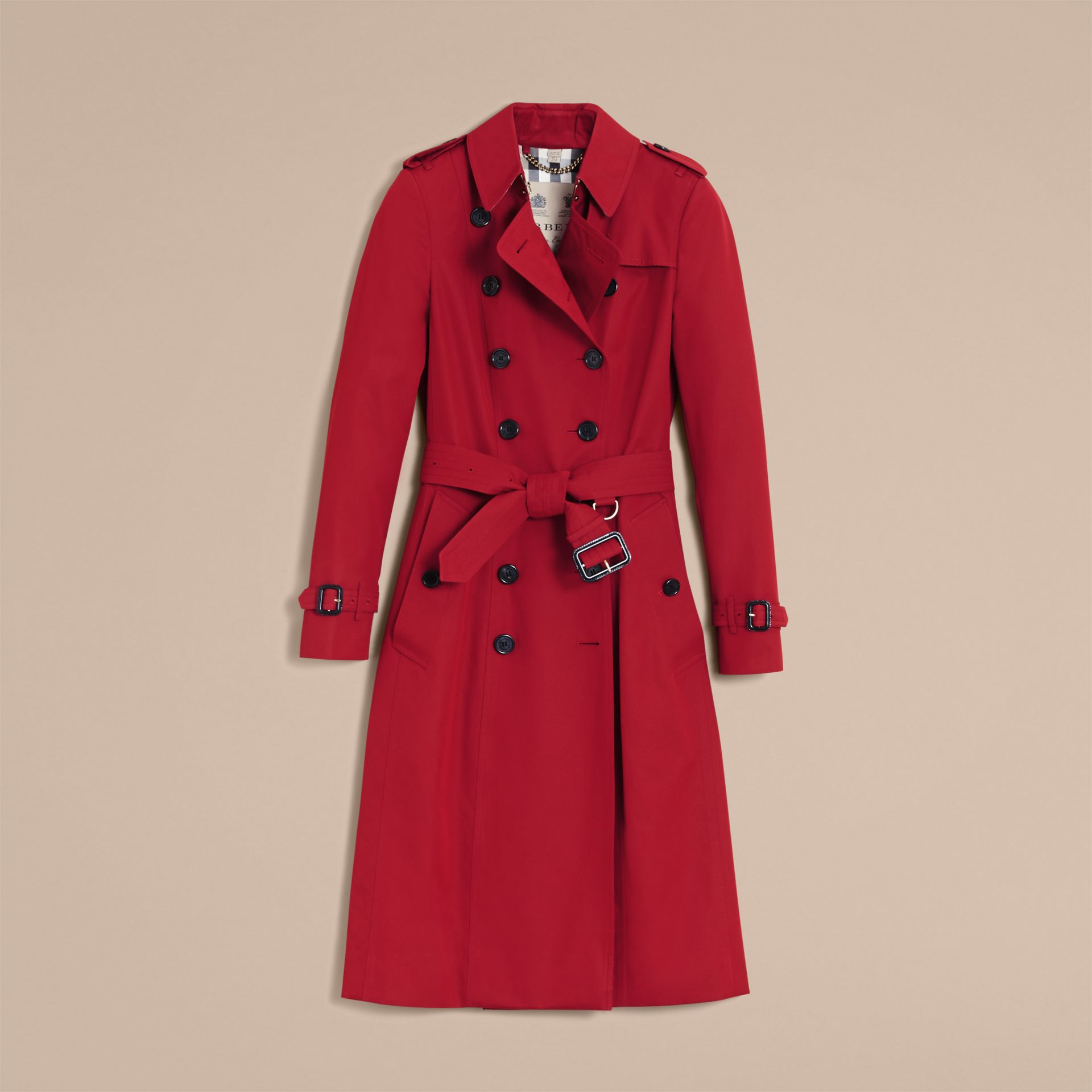 Parade red The Chelsea – Extra-long Heritage Trench Coat Parade Red - gallery image 5