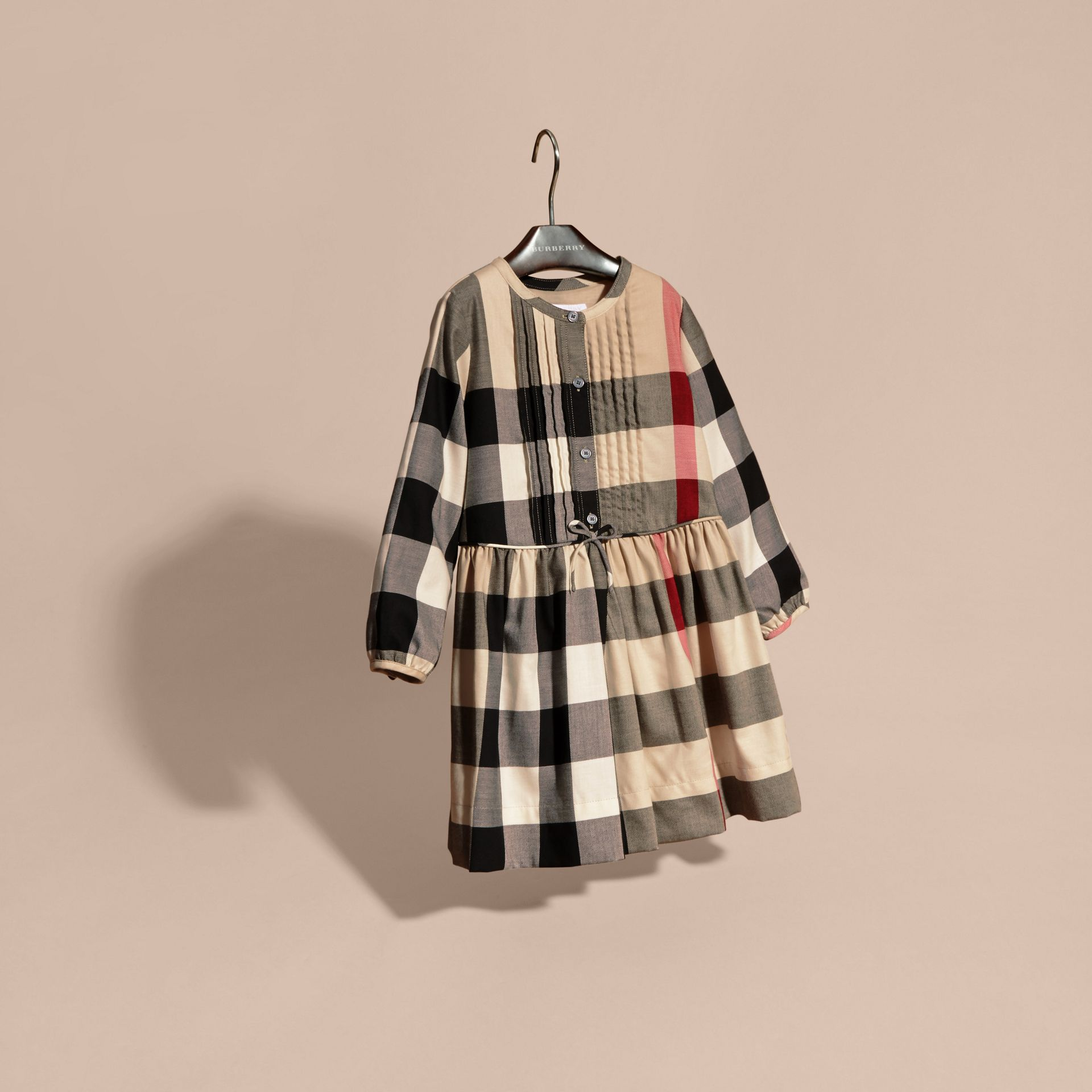 New classic check Check Pintuck Detail Cotton Dress - gallery image 3