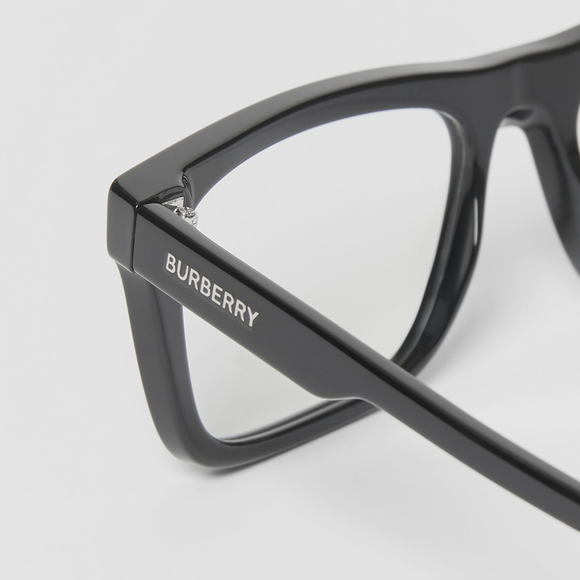 Rectangular Optical Frames in Black - Men | Burberry - gallery image 1