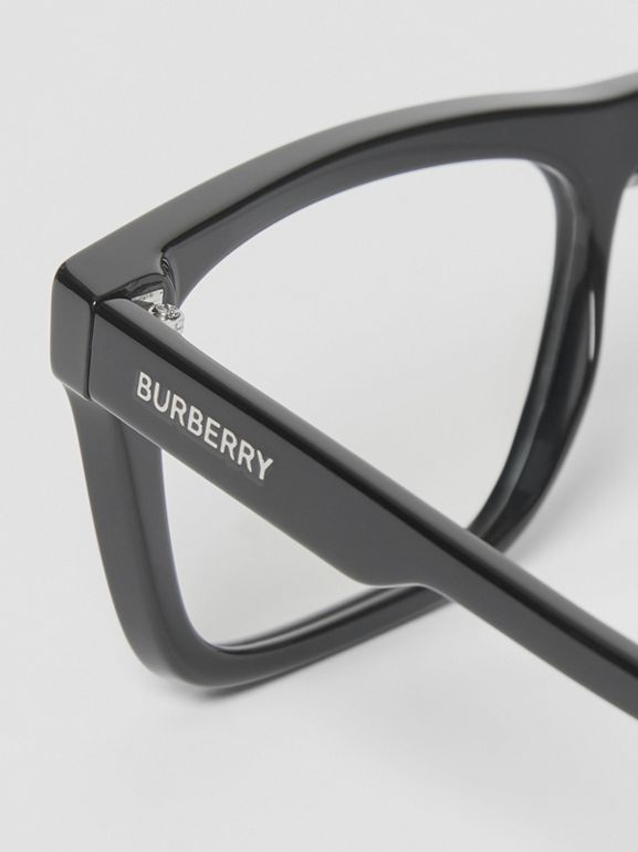 Rectangular Optical Frames in Black - Men | Burberry - cell image 1