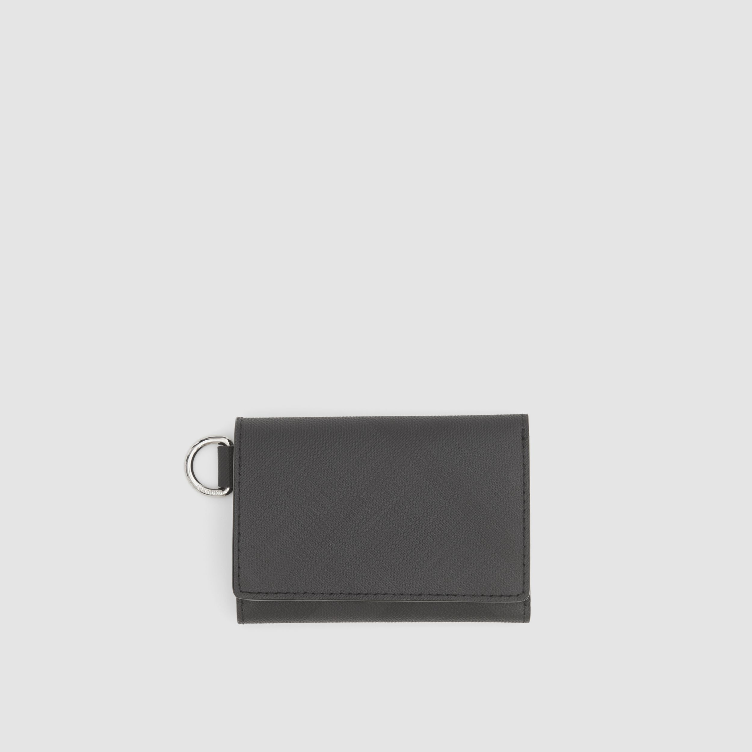 Small London Check Folding Wallet in Dark Charcoal - Men | Burberry - 1