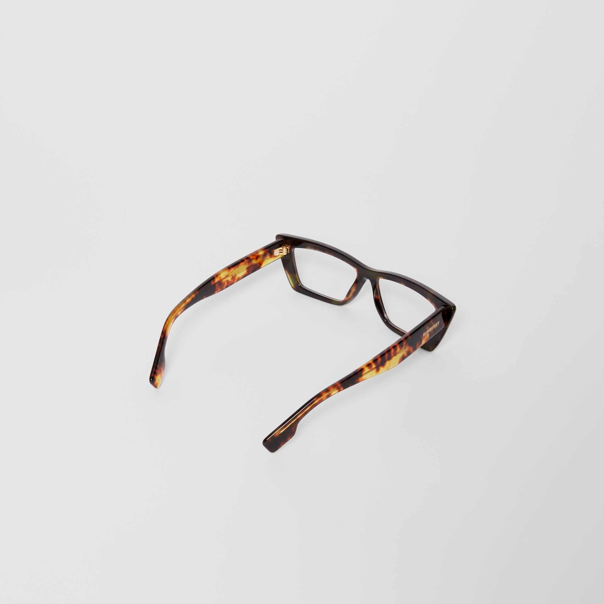 Rectangular Optical Frames in Tortoiseshell - Women | Burberry - gallery image 4
