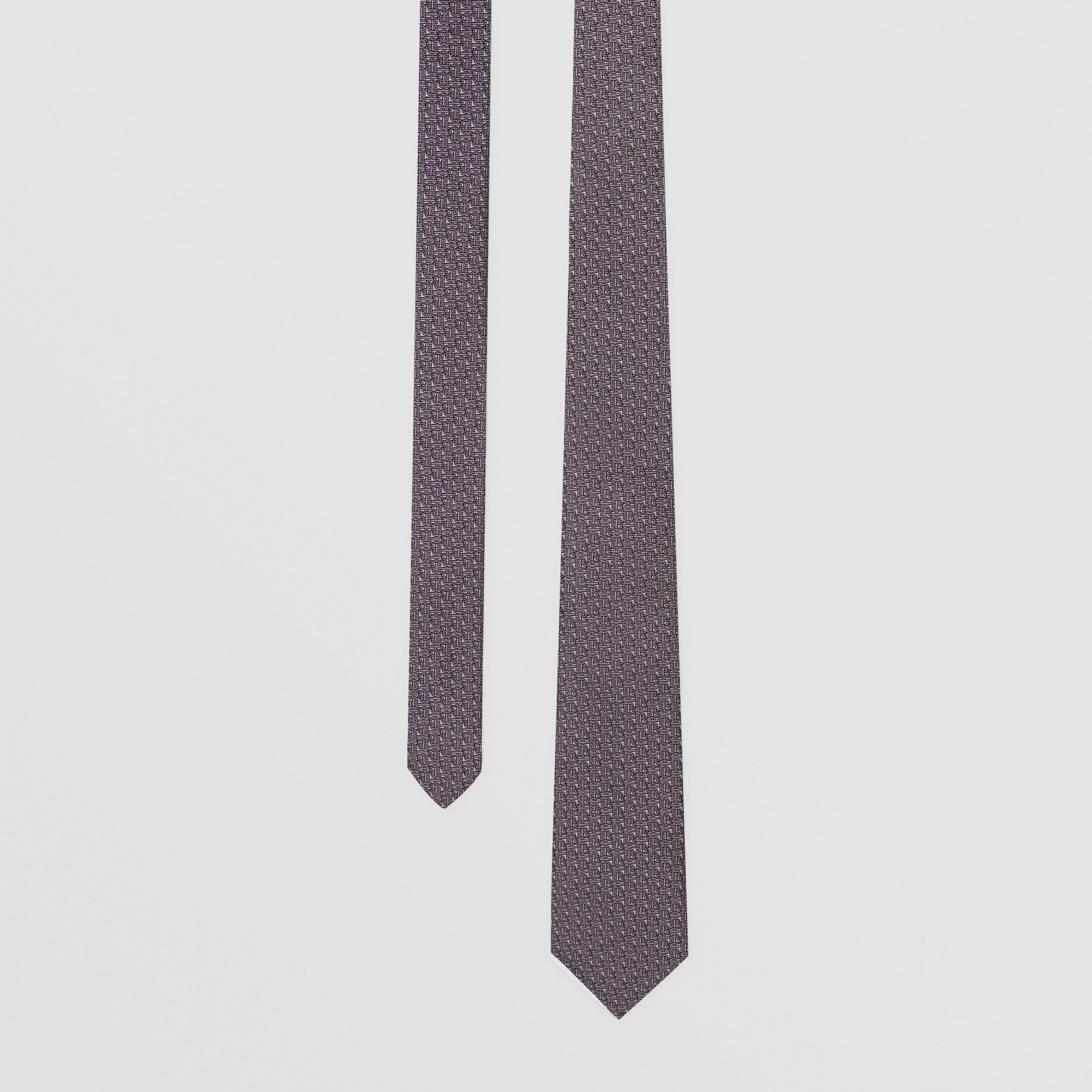 Classic Cut Monogram Silk Jacquard Tie in Pale Lavender - Men | Burberry - 1