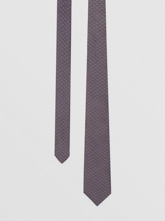 Classic Cut Monogram Silk Jacquard Tie in Pale Lavender
