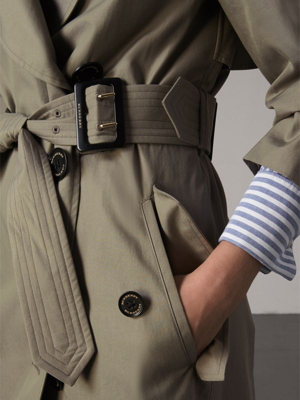 Tropical Gabardine Trench Coat in Slate Green - Women | Burberry - cell image 3