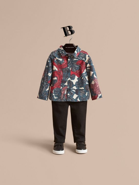 Beasts Print Cotton Shirt | Burberry Singapore