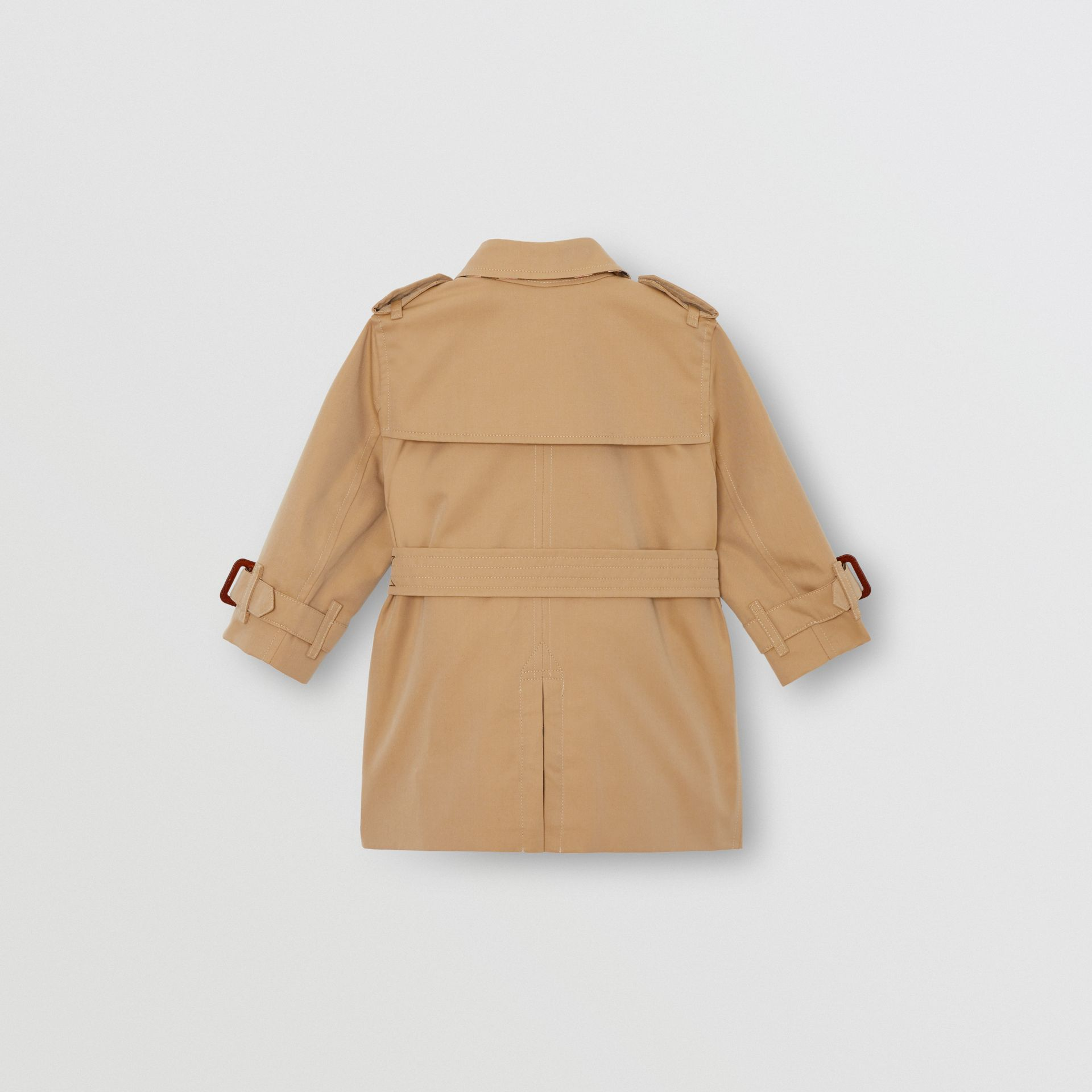 Cotton Gabardine Trench Coat in Honey - Children | Burberry Australia - gallery image 3