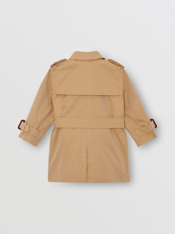 Cotton Gabardine Trench Coat in Honey - Children | Burberry Australia - cell image 3