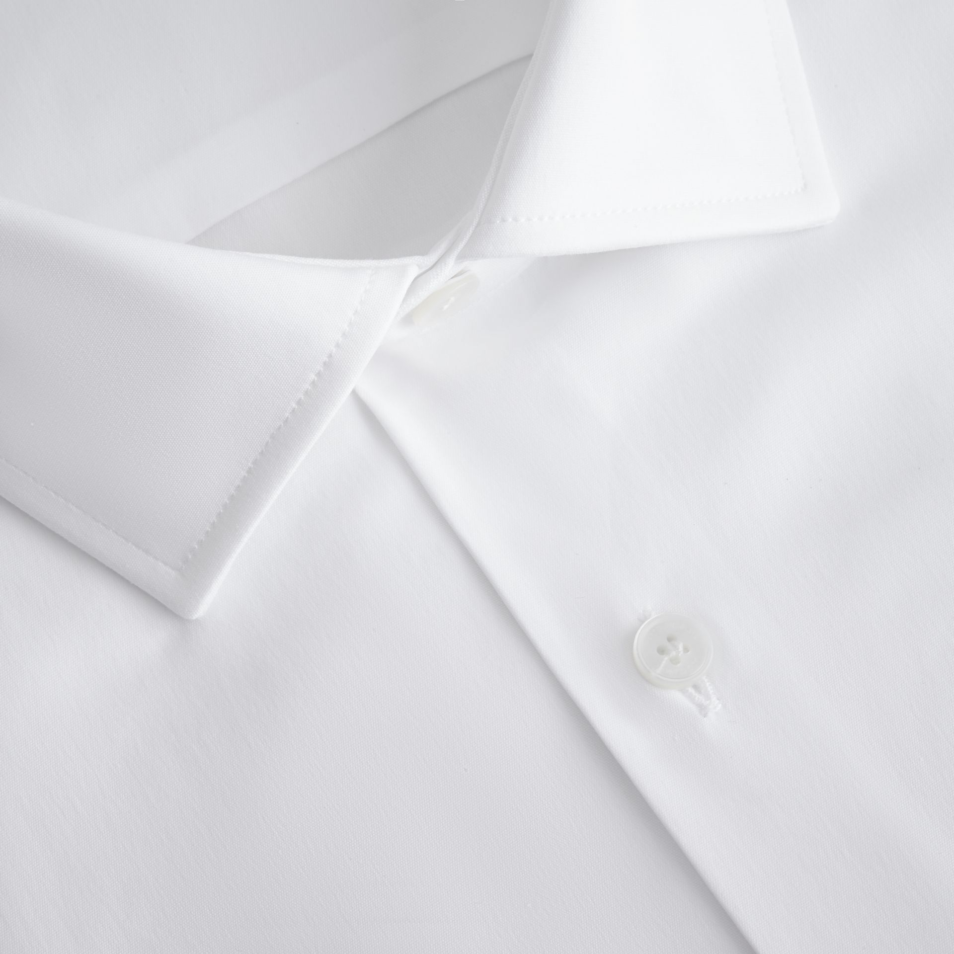 Modern Fit Stretch Cotton Shirt in White - gallery image 2