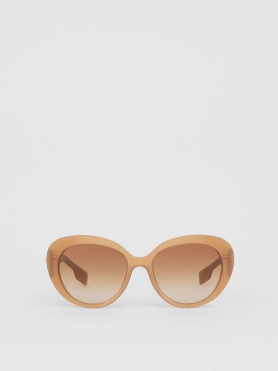 Monogram Motif Cat-eye Frame Sunglasses in Warm Camel