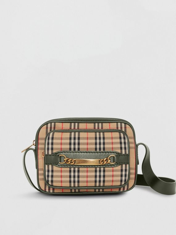 The 1983 Check Link Camera Bag in Dark Forest Green